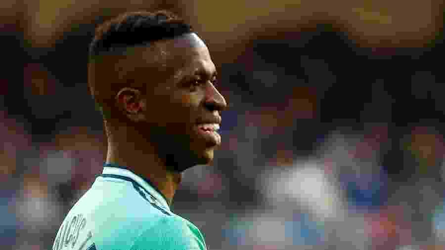 Vinicius Júnior, atacante do Real Madrid, durante jogo contra o Espanyol - Javier Barbancho/Reuters