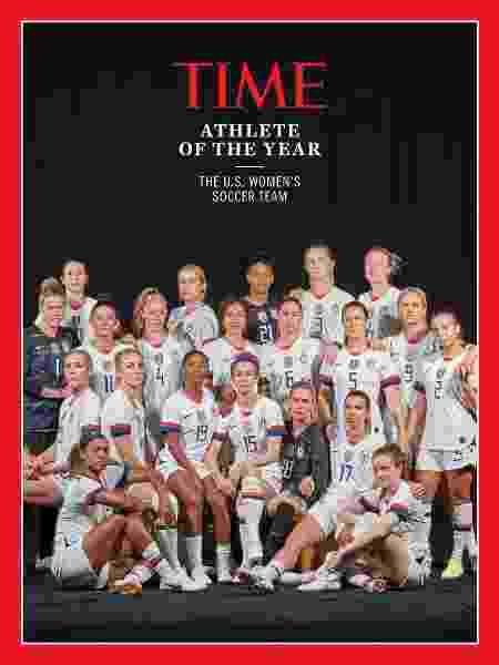 """Seleção feminina dos EUA é eleita """"Atleta do Ano"""" pela revista Time - divulgação/Time"""