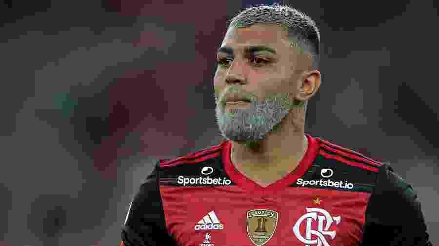 Gabigol celebra gol marcado pelo Flamengo contra o Independiente del Valle - Thiago Ribeiro/AGIF