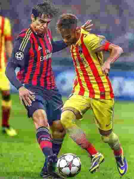 """Kaká brinca com entrada """"com carinho"""" em Neymar - Reprodução/Instagram"""