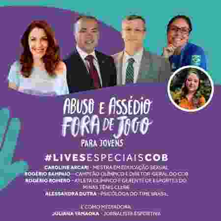 Live do lançamento do curso Abuso e Assédio Fora de Jogo - Divulgação - Divulgação