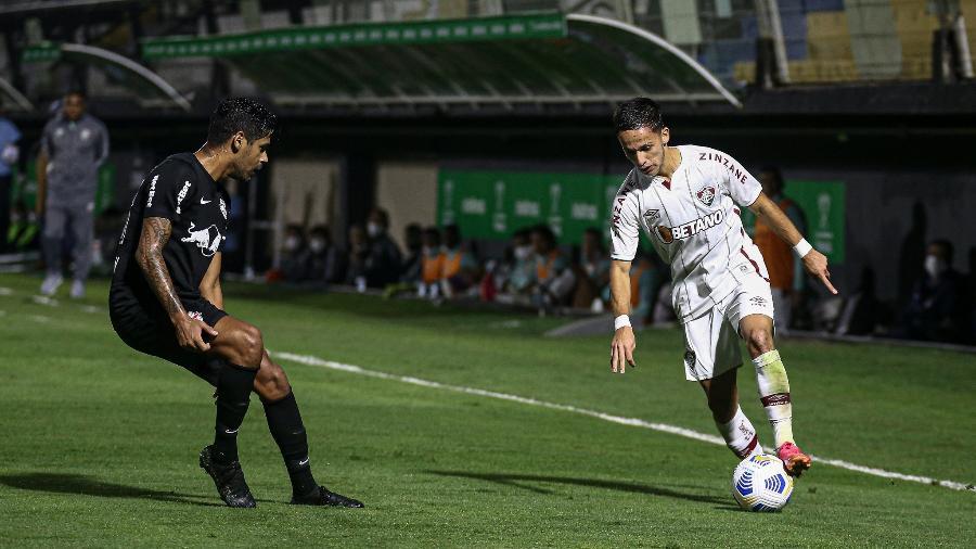 Gabriel Teixeira, do Fluminense, no duelo contra o Red Bull Bragantino, pela Copa do Brasil - Lucas Merçon / Fluminense F.C.