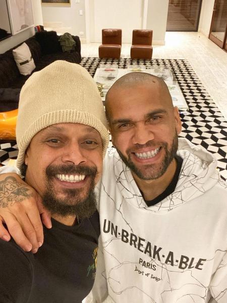 Marcelo Falcão e Daniel Alves - Reprodução