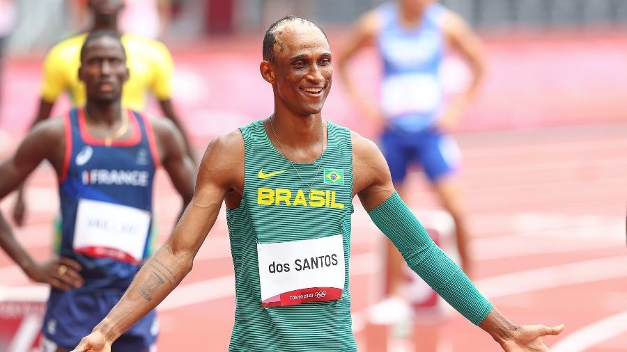 Alison dos Santos disputa os 400 metros com barreiras nas Olimpíadas de Tóquio - Wagner Carmo/CBAt