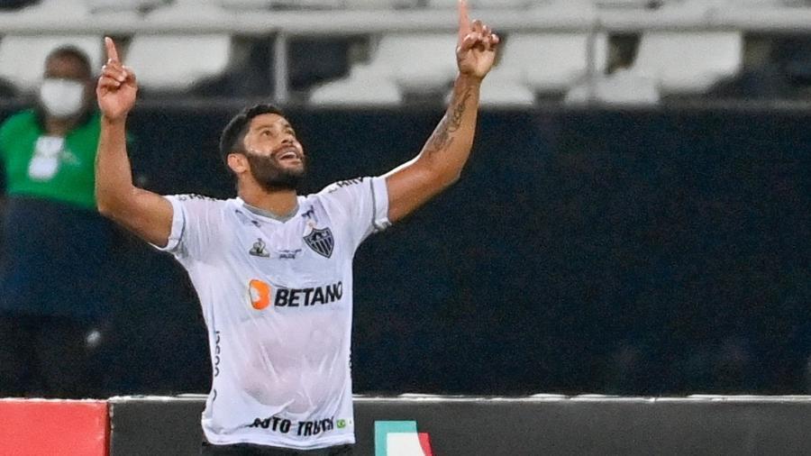 Hulk comemora gol do Atlético-MG contra o Fluminense na Copa do Brasil - JOÃO BARROCA/FRAMEPHOTO/FRAMEPHOTO/ESTADÃO CONTEÚDO