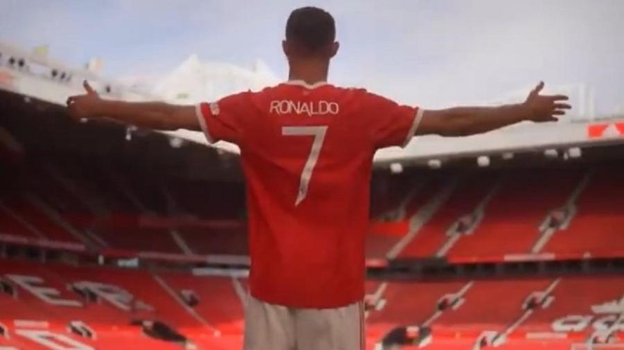 Cristiano Ronaldo volta ao Old Trafford após 12 anos - Reprodução/Twitter