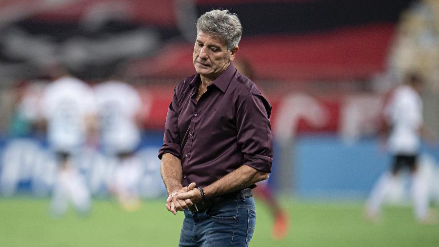 Renato Gaúcho reclamou de críticas após derrota do Flamengo para o Grêmio - Jorge Rodrigues/AGIF