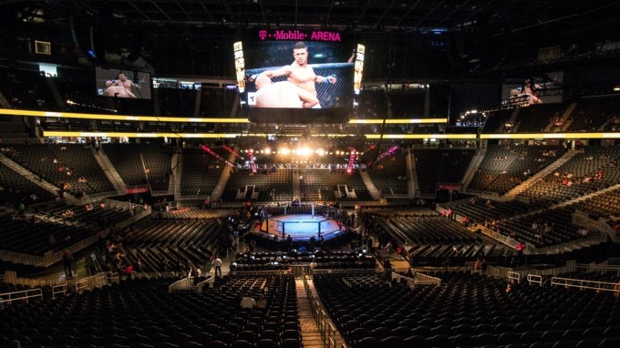 Palco do UFC 200, em 2016. 25 anos de história do UFC - Rigel Salazar/ Ag Fight