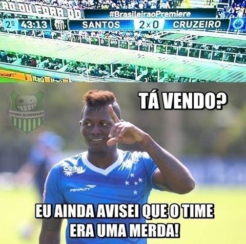 Torcedores tiram sarro da crise vivida pelo Cruzeiro
