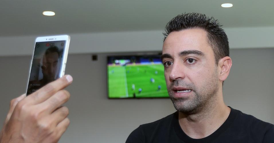 Ex-Barcelona, Xavi concede entrevista no Catar