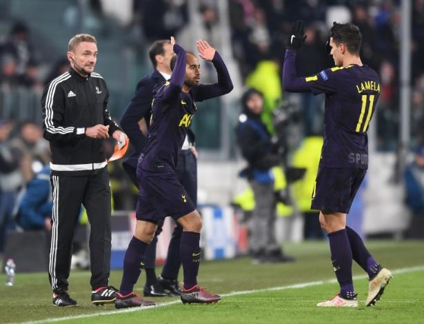Lucas estreou pelo Tottenham na partida de terça-feira contra a Juventus