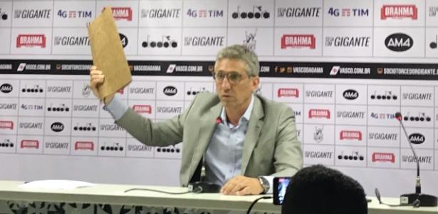 Presidente do Vasco, Alexandre Campello encerrou o contrato com a JJ Invest - Bruno Braz/UOL Esporte