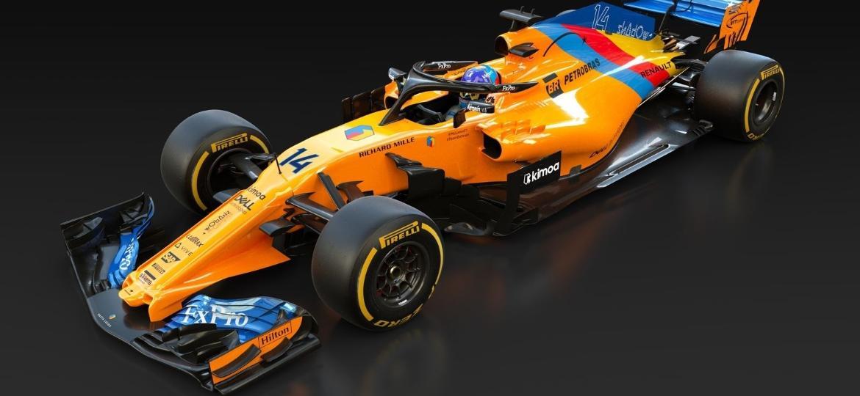 Carro da McLaren foi personalizado para Fernando Alonso disputar o último GP de F1 da carreira - Divulgação/McLaren