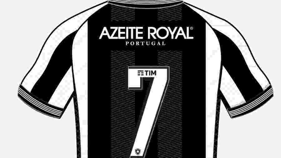 Azeite português Royal irá estampar sua marca na parte superior das costas da camisa do Botafogo - Divulgação / Azeite Royal