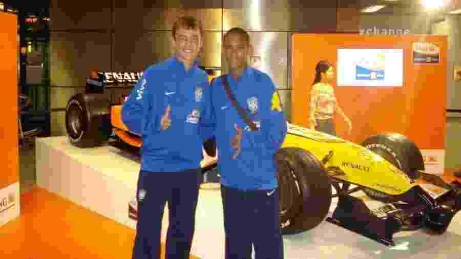 Geovane ao lado de Neymar na seleção brasileira de base - Arquivo pessoal/Geovane