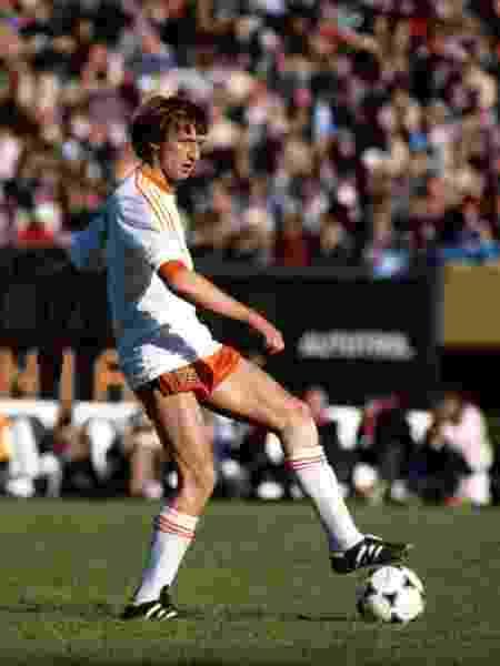 Rob Rensenbrink, da seleção da Holanda, em partida contra a Itália na Copa do Mundo da Argentina, em 1978 - Peter Robinson/PA Images via Getty Images