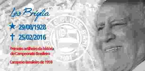 Site do Bahia homenageia Léo Briglia - Reprodução/Site oficial do Bahia - Reprodução/Site oficial do Bahia