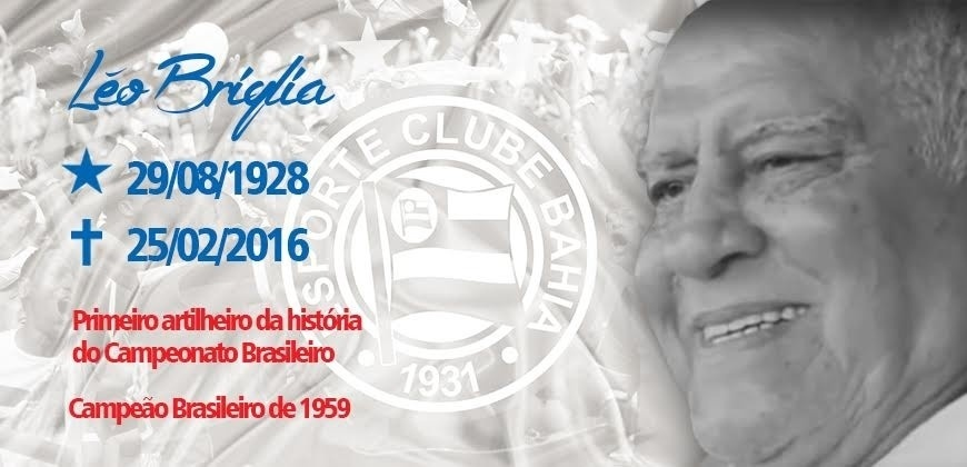 Bahia homenageia ex-atacante Léo Briglia