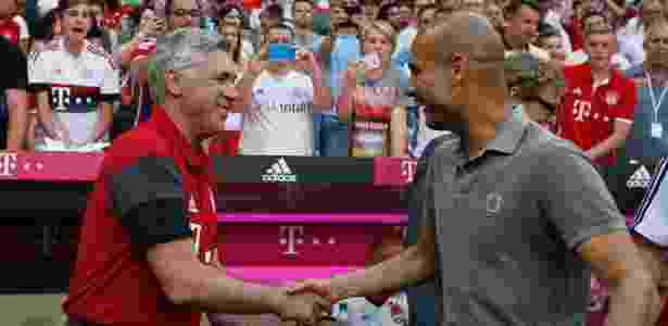 Guardiola e Ancelotti - Michaela Rehle/Action Images via Reuters - Michaela Rehle/Action Images via Reuters