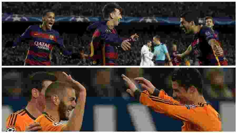 Trios de ataques poderosos são os destaques de Barça e Real - Albert Gea/Patrick Stollars