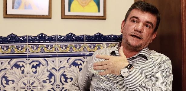 O deputado Andrés Sanchez durante entrevista ao UOL Esporte