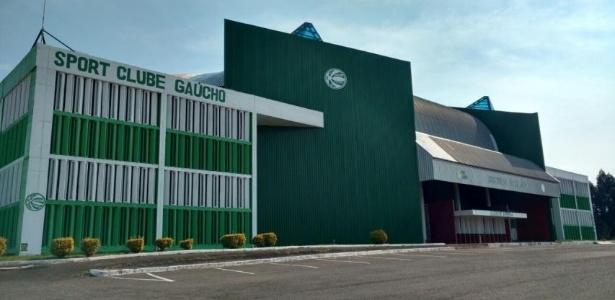 Fachada do SC Gaúcho, clube da terceira divisão do Rio Grande do Sul