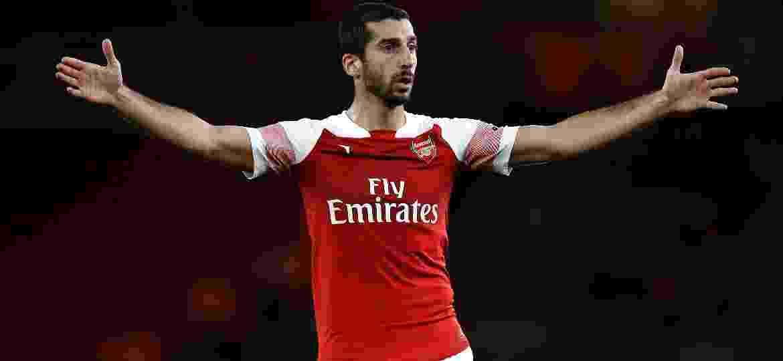 Henrikh Mkhitaryan ficou fora de duas partidas no Azerbaijão; uma delas no ano passado, pelo Arsenal - Julian Finney/Getty Images