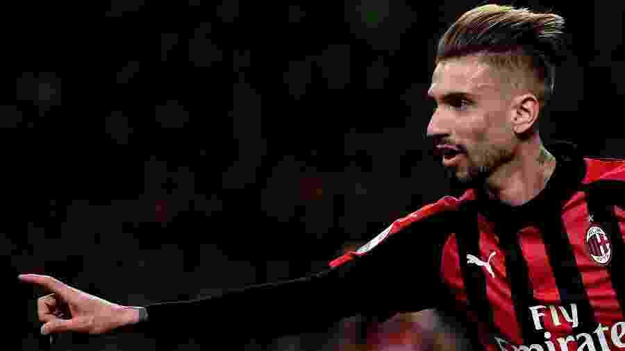Samuel Castillejo foi o destaque na partida de Milan e Empoli pelo Campeonato Italiano - MARCO BERTORELLO / AFP