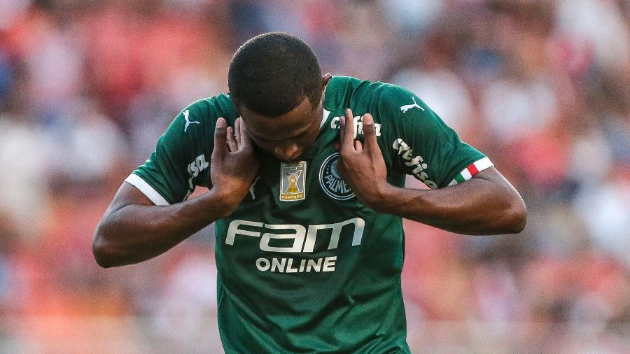 Carlos Eduardo, autor do gol do Palmeiras sobre o São Paulo - Ale Cabral/AGIF
