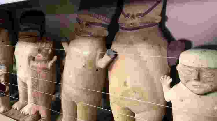 Cuchimilcos masculinos e femininos do Museu Amano em Lima - Divulgação