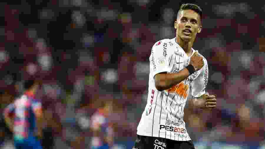 """Corinthians quer aproveitar boa fase de Pedrinho para realizar uma venda """"gorda"""" ao futebol europeu no início de 2020 - Rodrigo Gazzanel/Ag. Corinthians"""