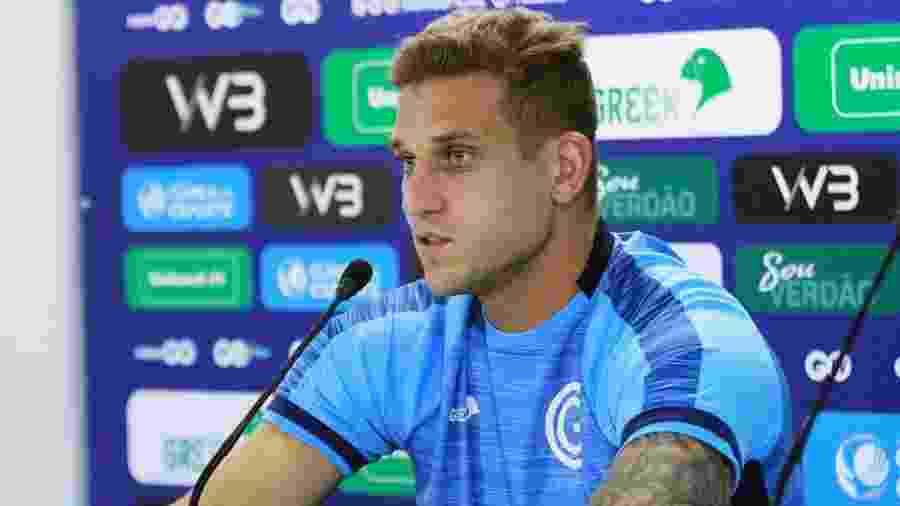 Rafael Moura sofreu uma lesão na coxa e não poderá encarar o ex-time - Rosiron Rodrigues/ Goiás Esporte Clube