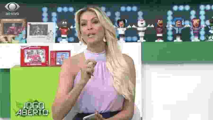 Renata Fan durante o Jogo Aberto - Reprodução/Bandeirantes