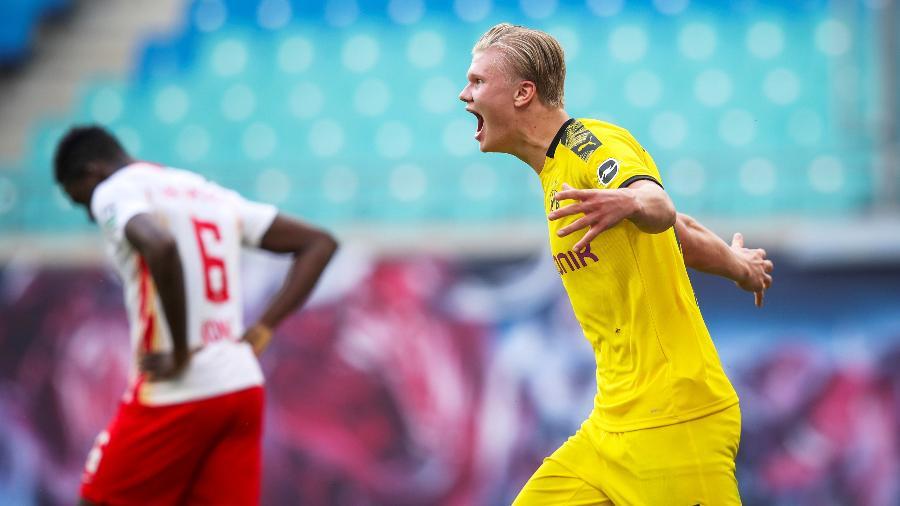 Haaland, sensação do futebol europeu nesta temporada, entra em campo neste sábado com o Dortmund - Reuters