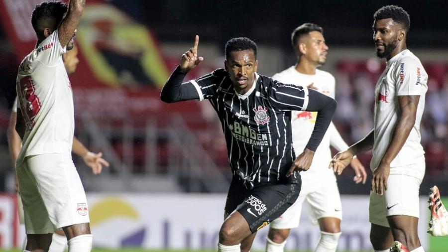 Jô marcou o segundo gol do Corinthians na vitória sobre o Red Bull Bragantino pelas quartas do Paulistão - Rodrigo Coca/Agência Corinthians