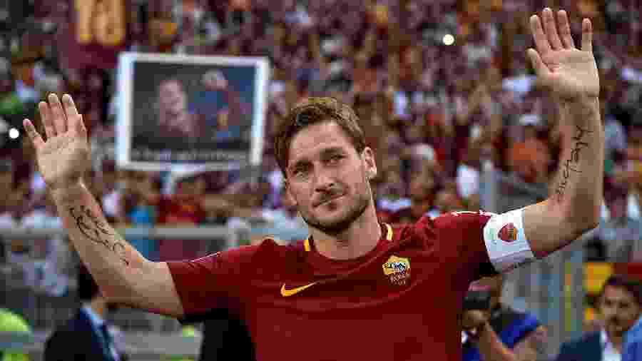 Francesco Totti gravou uma mensagem de apoio a Ilenia Matilli - REUTERS/Alberto Lingria