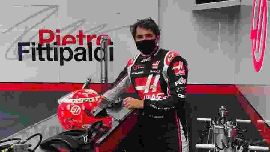 Pietro Fittipaldi se prepara para a estreia nos boxes da Haas - Haas/Divulgação