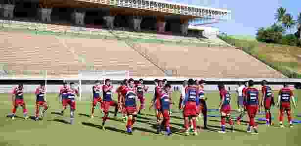Jogadores do Bahia treinam em Pituaçu para o jogo contra o Confiança - Felipe Oliveira/Divulgação/EC Bahia