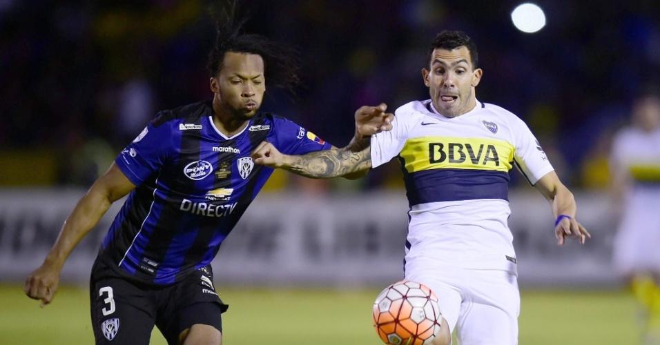 Arturo Mina foi o responsável pela marcação de Carlitos Tévez, no confronto Del Valle x Boca Juniors