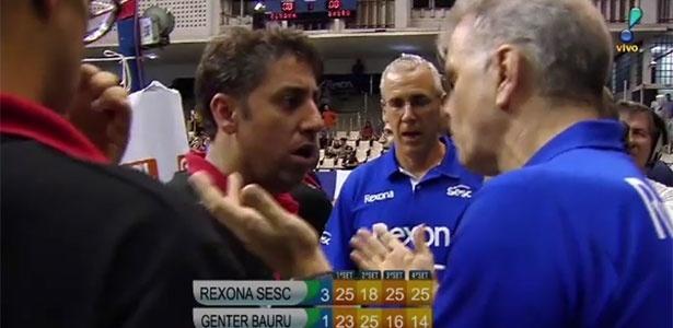 Fabiano e Bernardinho discutem