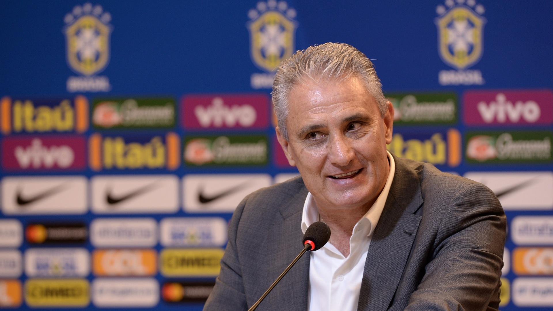 Tite, durante entrevista coletiva após a convocação da seleção brasileira