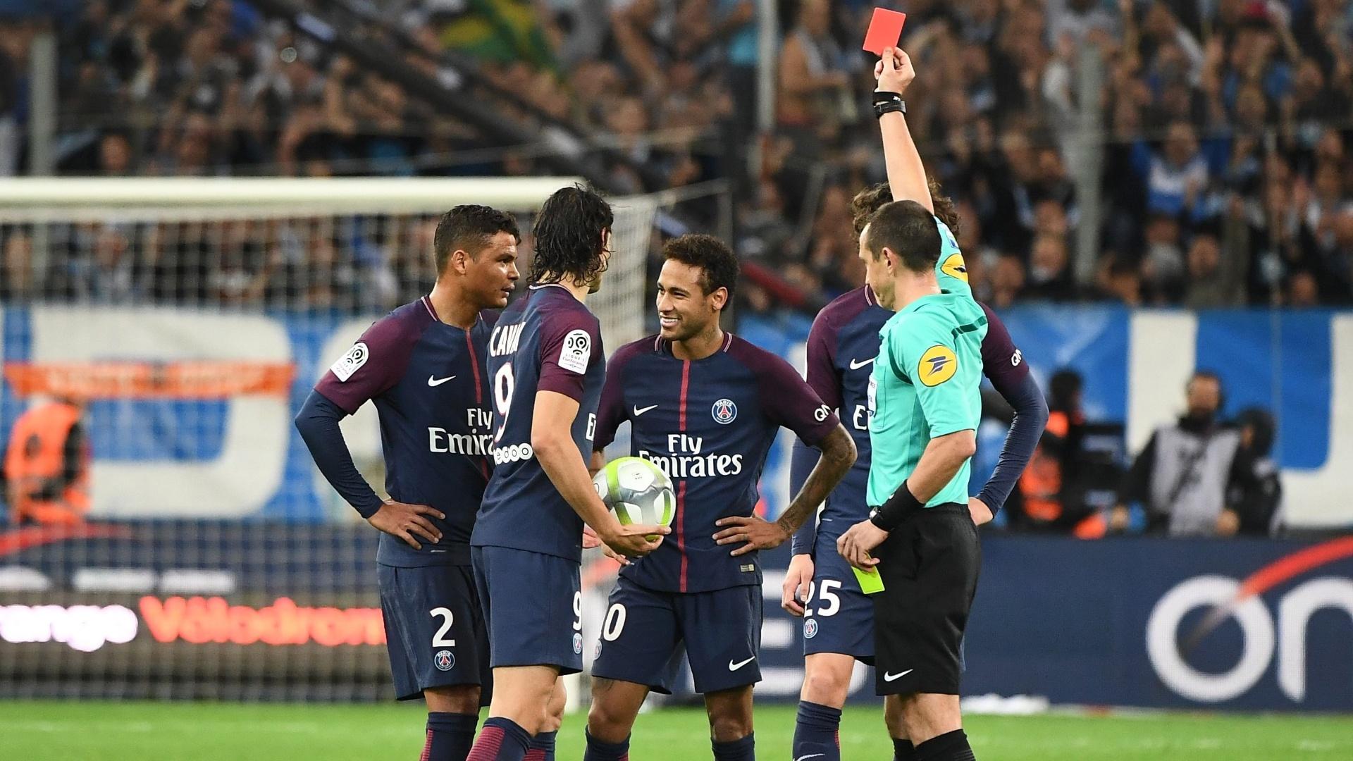 Neymar é expulso no clássico Olympique x PSG