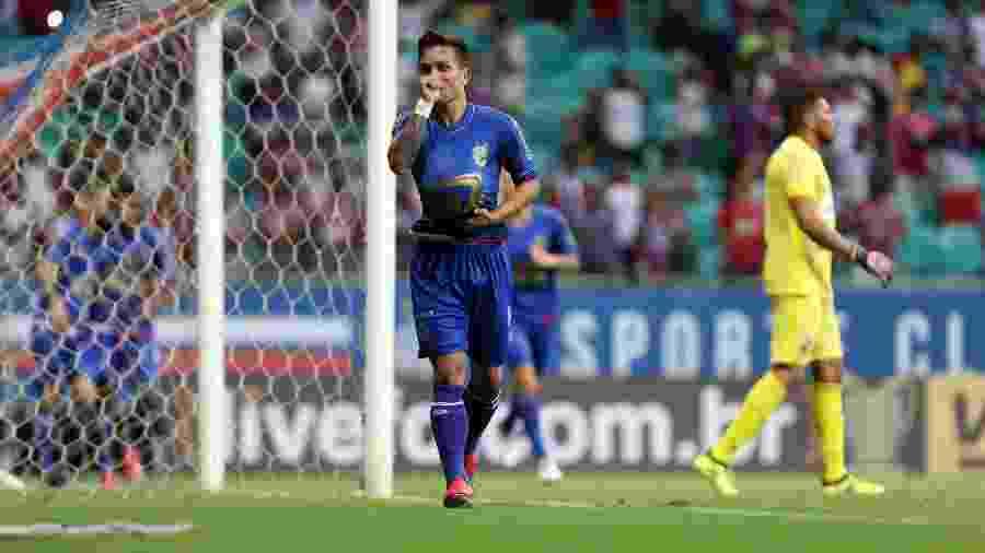 Artur comemora após marcar pelo Bahia sobre o Salgueiro pela Copa do Nordeste - Felipe Oliveira / EC Bahia