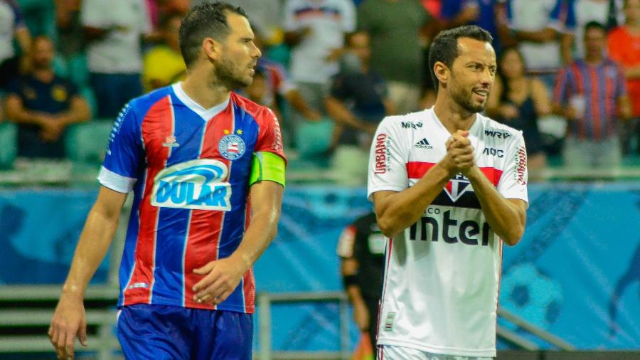 Nenê durante partida do São Paulo contra o Bahia - Jhony Pinho/AGIF