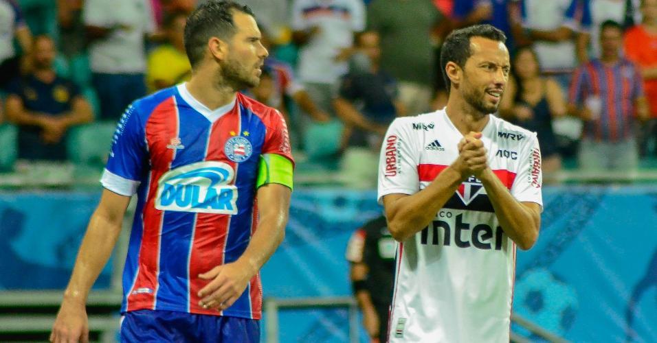 Nenê lamenta chance desperdiçada pelo São Paulo contra o Bahia pela Copa do Brasil