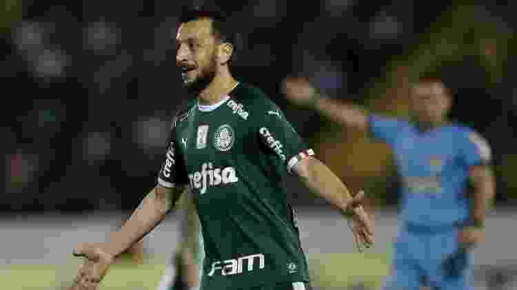 Edu Dracena comemora gol do Palmeiras em amistoso contra o Guarani - Cesar Greco/Ag. Palmeiras/Divulgação - Cesar Greco/Ag. Palmeiras/Divulgação