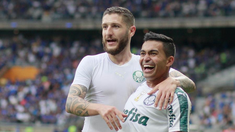 Zé Rafael e Dudu marcaram pelo Palmeiras contra o Cruzeiro em 2018 - TELMO FERREIRA/FRAMEPHOTO/ESTADÃO CONTEÚDO