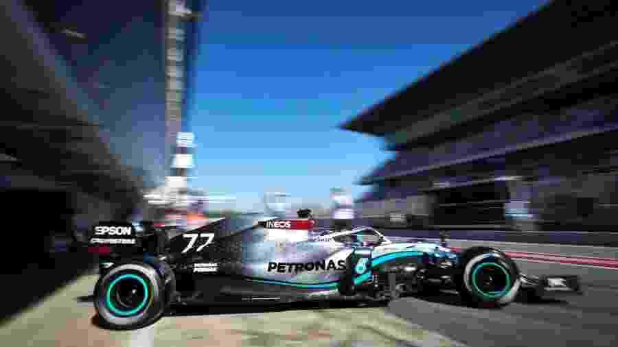 Valtteri Bottas, da Mercedes, nos testes no Circuito da Catalunha - Mercedes