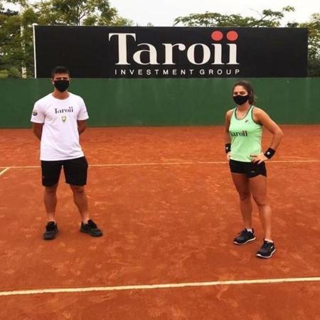 Carol Meligeni e João Menezes treinam em Itajaí - Reprodução/Instagram