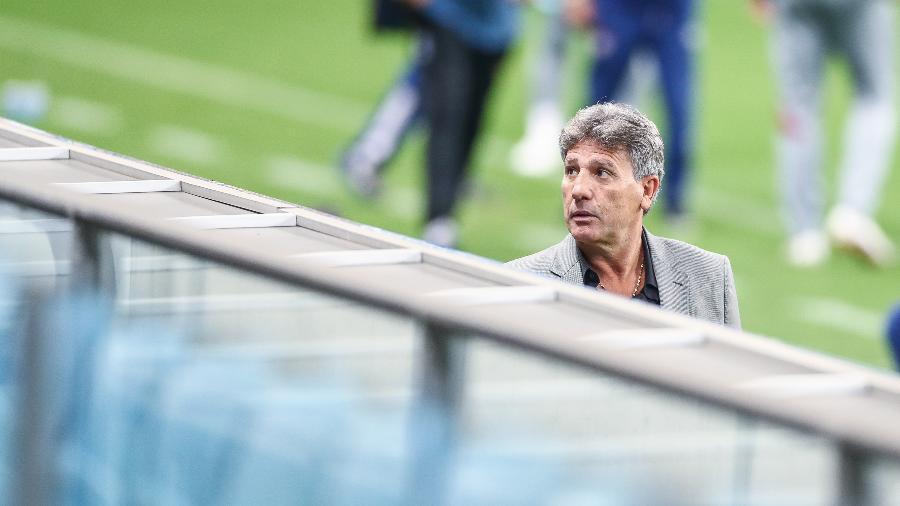 Renato Gaúcho, técnico do Grêmio, em partida entre Grêmio e Fluminense - Lucas Uebel/Getty Images